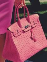 şeker pembe deri kol çantası hermes