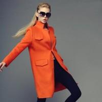 2015 turuncu kaban palto ceket kadın modası tarz şık