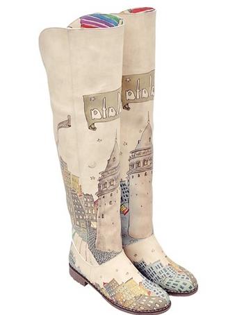 dogo desenli uzun çizme