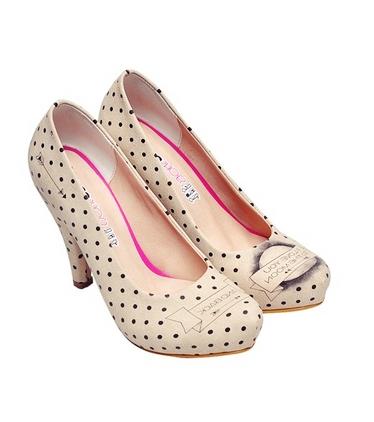 dogo puantiyeli topuklu ayakkabı