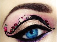 ilginç yaratıcı göz makyajları 12