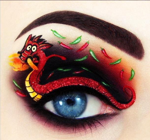 ilginç yaratıcı göz makyajları 3