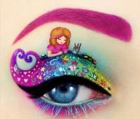 ilginç yaratıcı göz makyajları 4