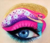 ilginç yaratıcı göz makyajları 5