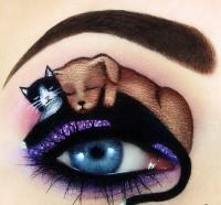 ilginç yaratıcı göz makyajları 6