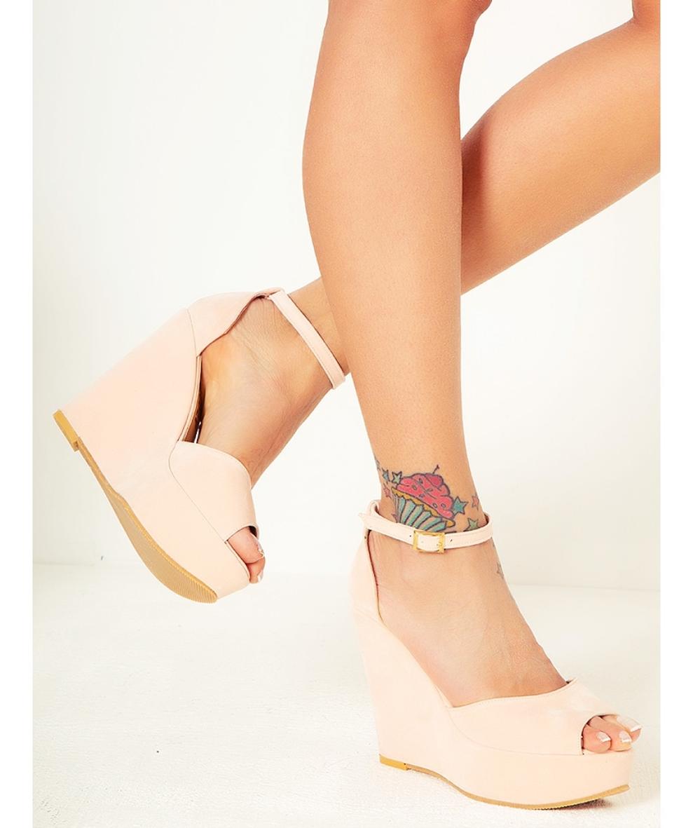 pudra rengi dolgu topuk sandalet