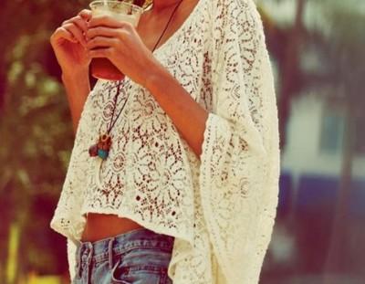 krem dantel bluz kombinleri