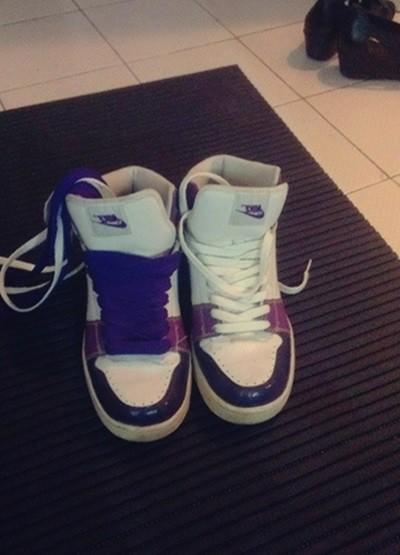 nike mor beyaz spor ayakkabı