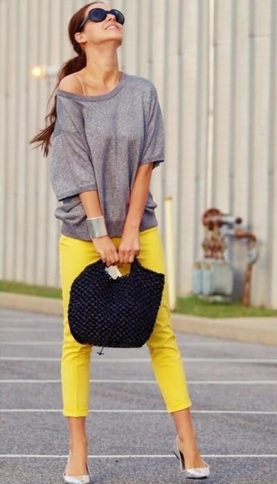 sarı bermuda pantolon