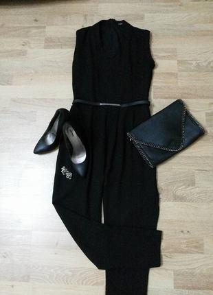 siyah uzun kumaş tulum