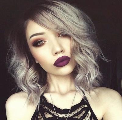gri kısa saç modeli