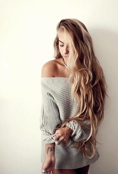 sarı uzun dalgalı saç