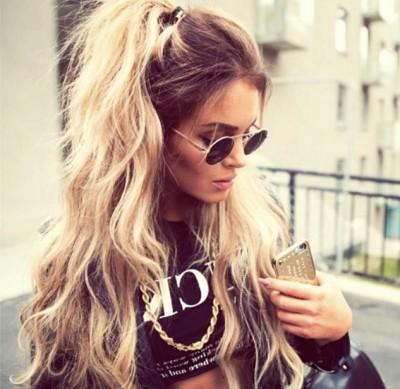 uzun ombreli dalgalı saç