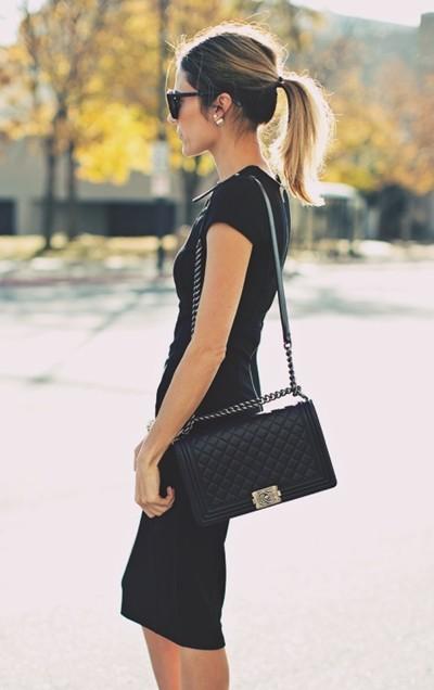 klasik siyah elbise