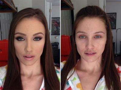 makyajla gelen değişim 9