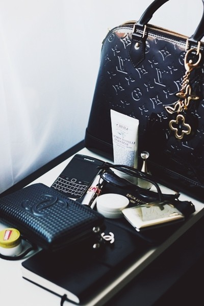 siyah deri çanta cüzdan