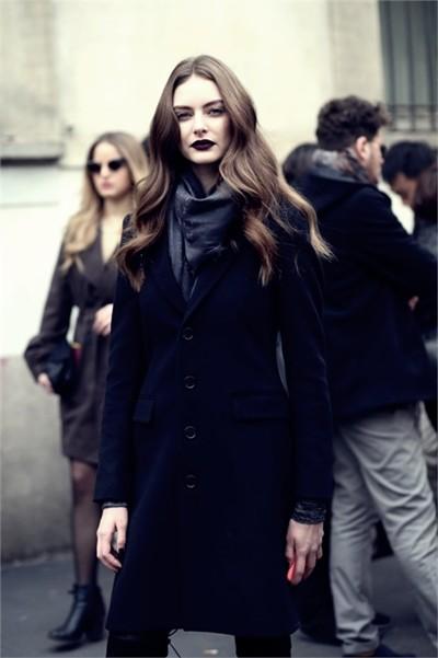 siyah kaşe kadın mont ceket