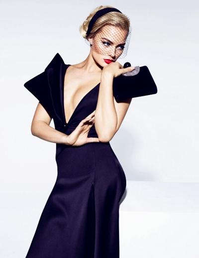 siyah saten gece elbisesi