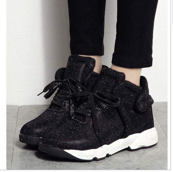 siyah simli bayan spor ayakkabı