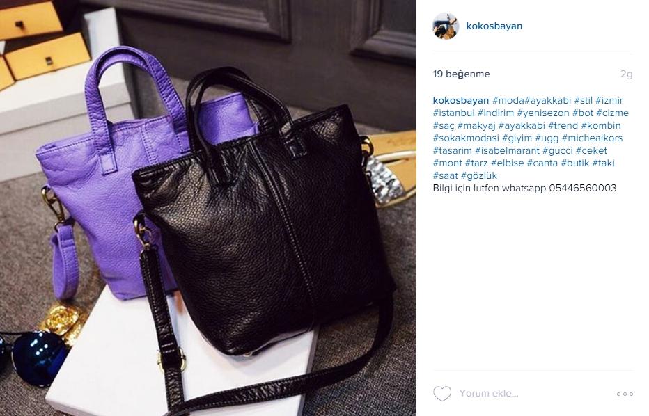 mor siyah kadın kol çantası yumuşak deri