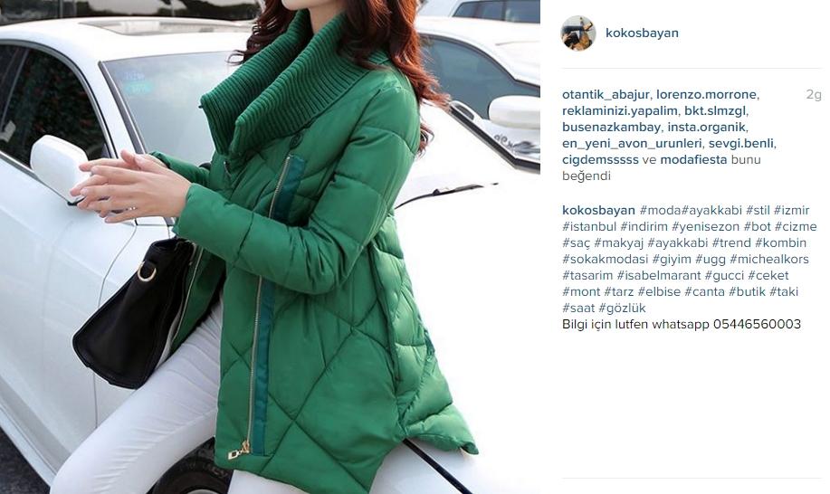 yeşil bayan ceket mont