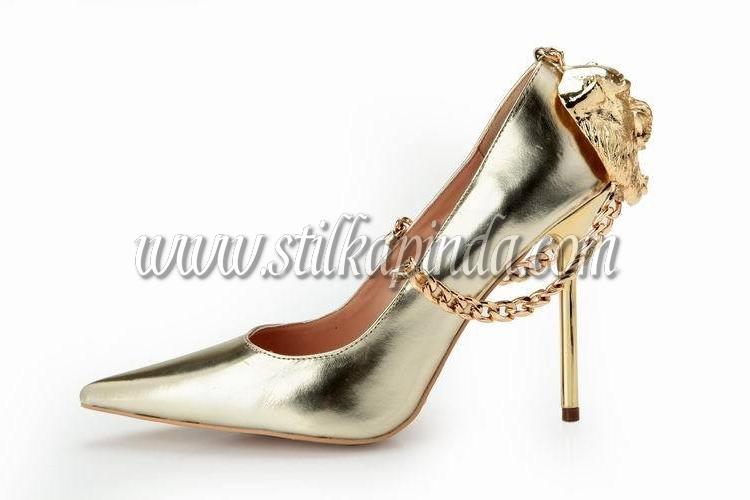altın renk stiletto
