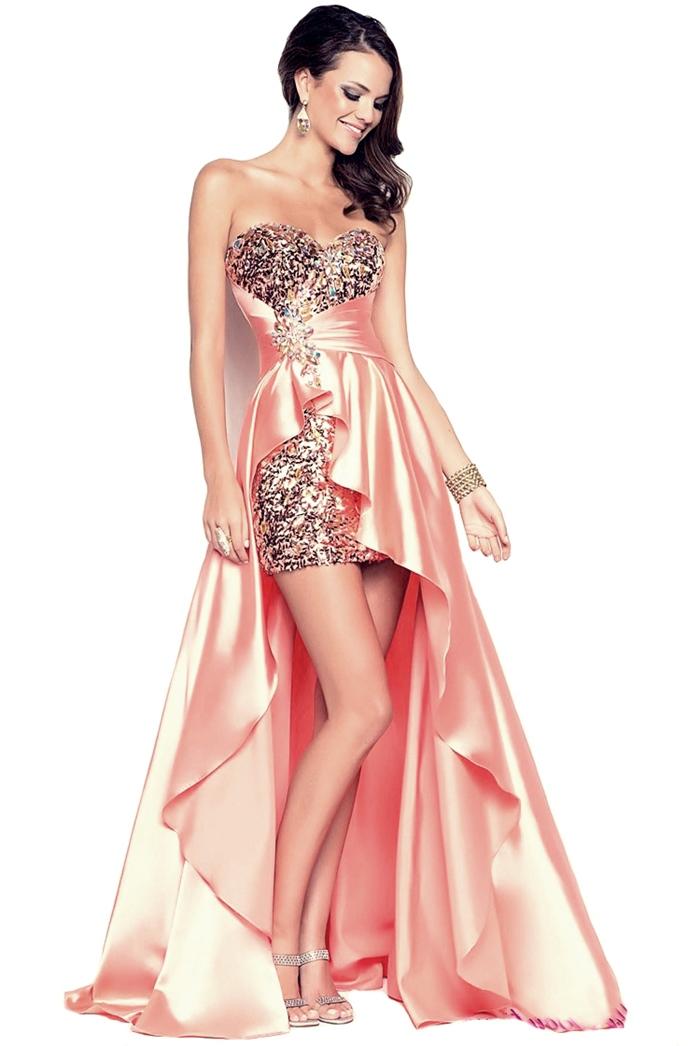 yavruağzı mini saten abiye elbise