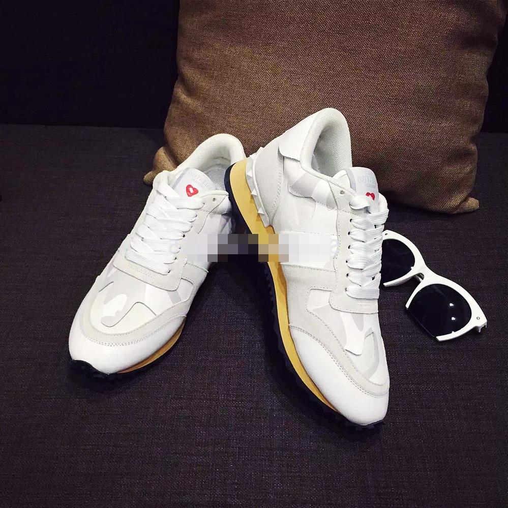 beyaz dantel zımba sneakers valentino spor ayakkabı