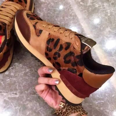 leopar dantel zımba sneakers valentino spor ayakkabı