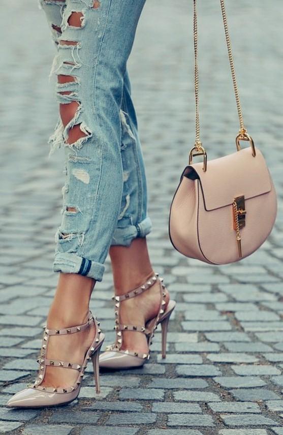 valentino bej rengi stiletto topuklu ayakkabı