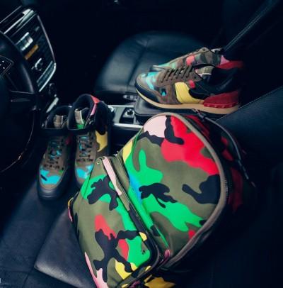 valentino sneakers zımbalı spor ayakkabı