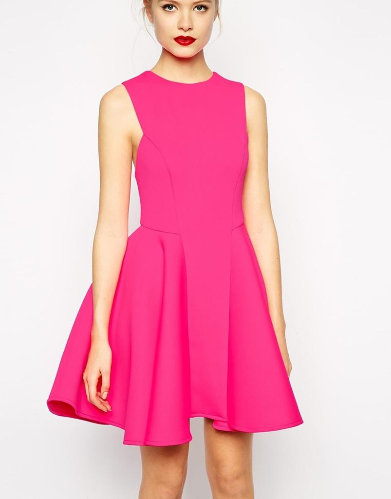 pembe mini kalın askılı emzuniyet elbisesi