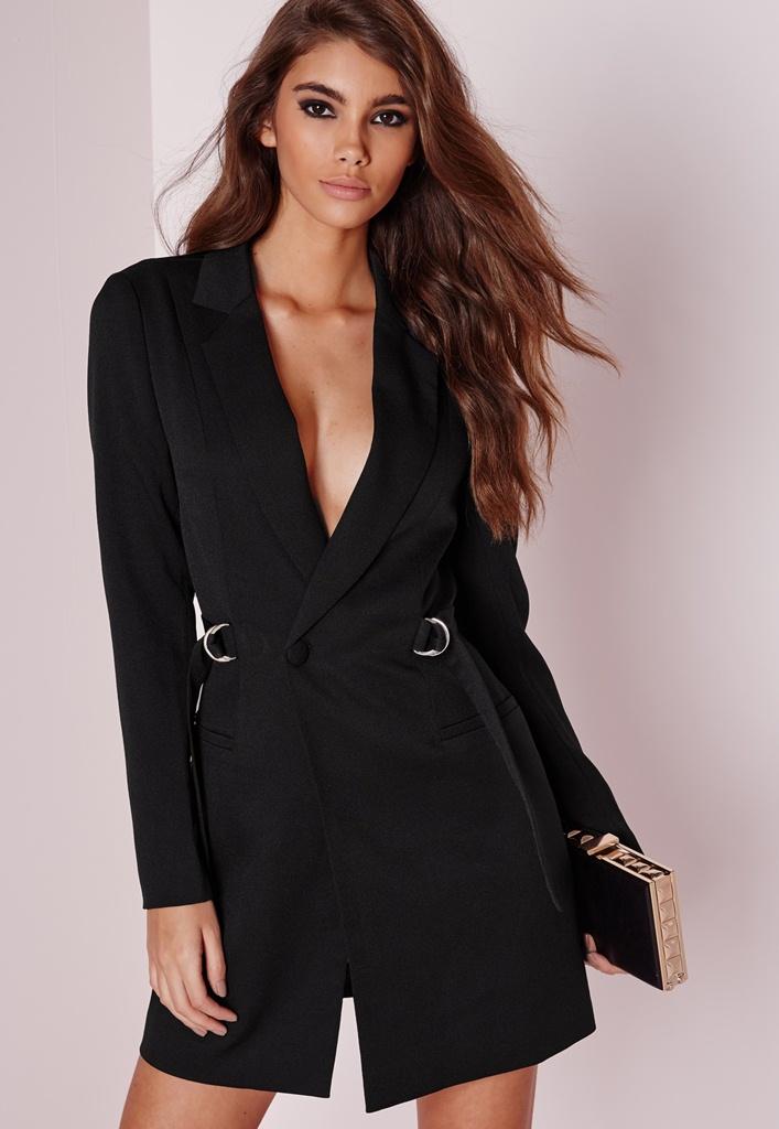 siyah kemerli mini elbise