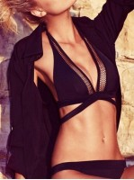 89.90 tl siyah çapraz askılı bikini