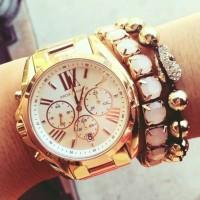 Michael kors altın sarısı kadın kol saati