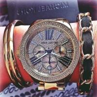 Michael kors kadın kol saati siyah bileklik