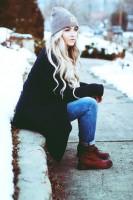 açık gri kış bere şapka