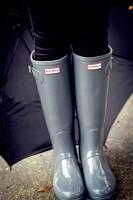 açık gri yağmur botu hunter çizme kadın