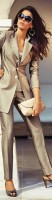 açık kahve kumaş pantolon blazer ceket ofis kombini