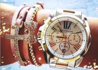 altın rengi Michael kors kadın kol saati takı