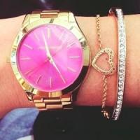 altın sarısı pembe kol saati kadın Michael kors