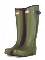 asker yeşili hunter yağmur çizmesi bot kadın