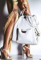büyük beyaz kol çantası deri versace
