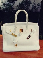 beyaz deri hermes kol çantası