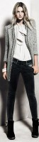 beyaz gömlek siyah pantolon gri ceket mango