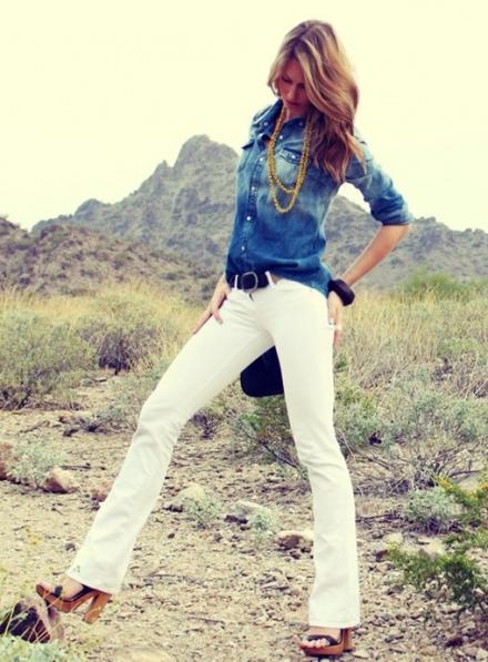 Beyaz pantolon nasıl kombinlenir?