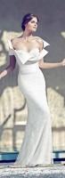 beyaz sade gelinlik modası