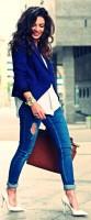 beyaz stiletto ayakkabı jean kombini