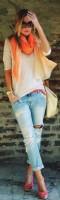 beyaz tshirt kadın boyfriend jeans kot yırtık