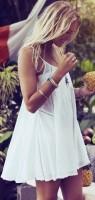 beyaz yazlık mini elbise